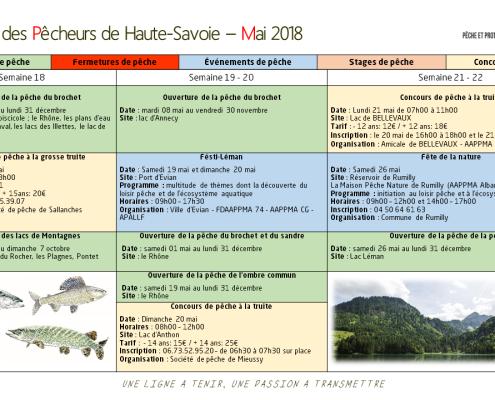 Calendrier Mai 2018