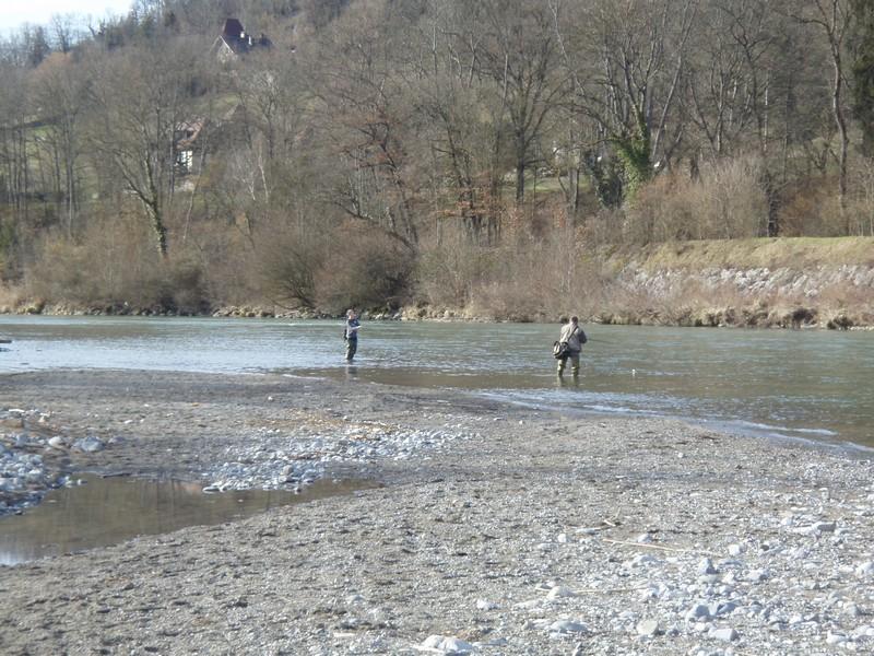 L'Arve, confluence du Borne